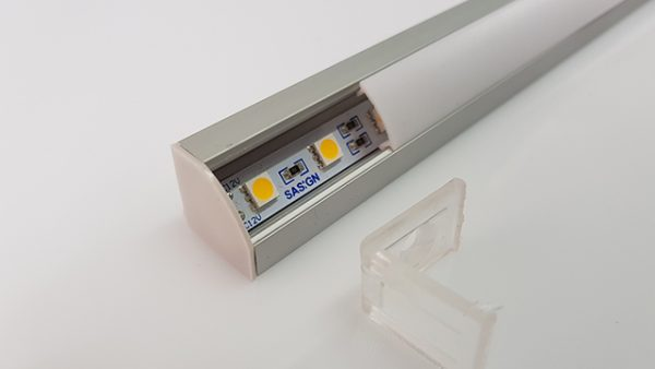 Sasigns Corner Profile LED cover and defuser in one